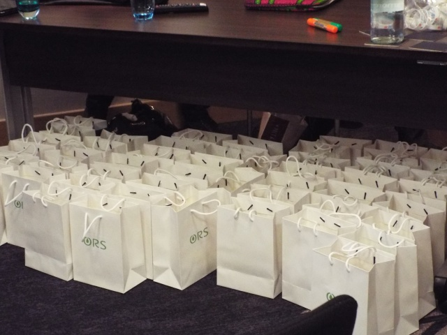 goody bags for the business of blogging workshop